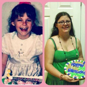From my 9th birthday, to my more recent 21st birthday...
