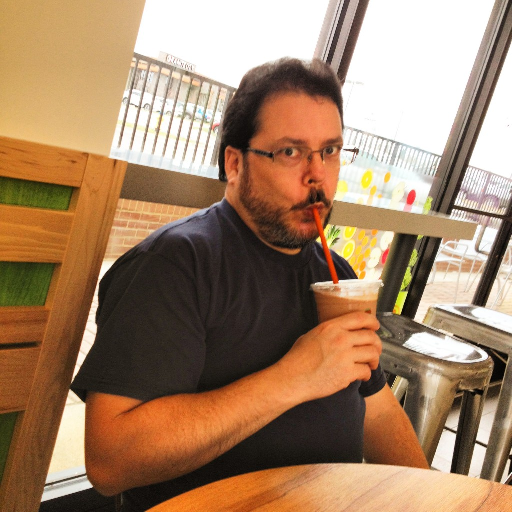 My awesome dad, drinking a delicious smoothie on that fateful Father/Daughter day in late March.