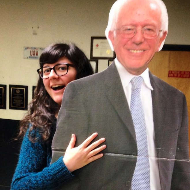 Someday I'm going to give the real Bernie Sanders a hug.